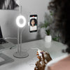 "White 6"" Video Live Stream Desk LED Ring Light - Jasper"