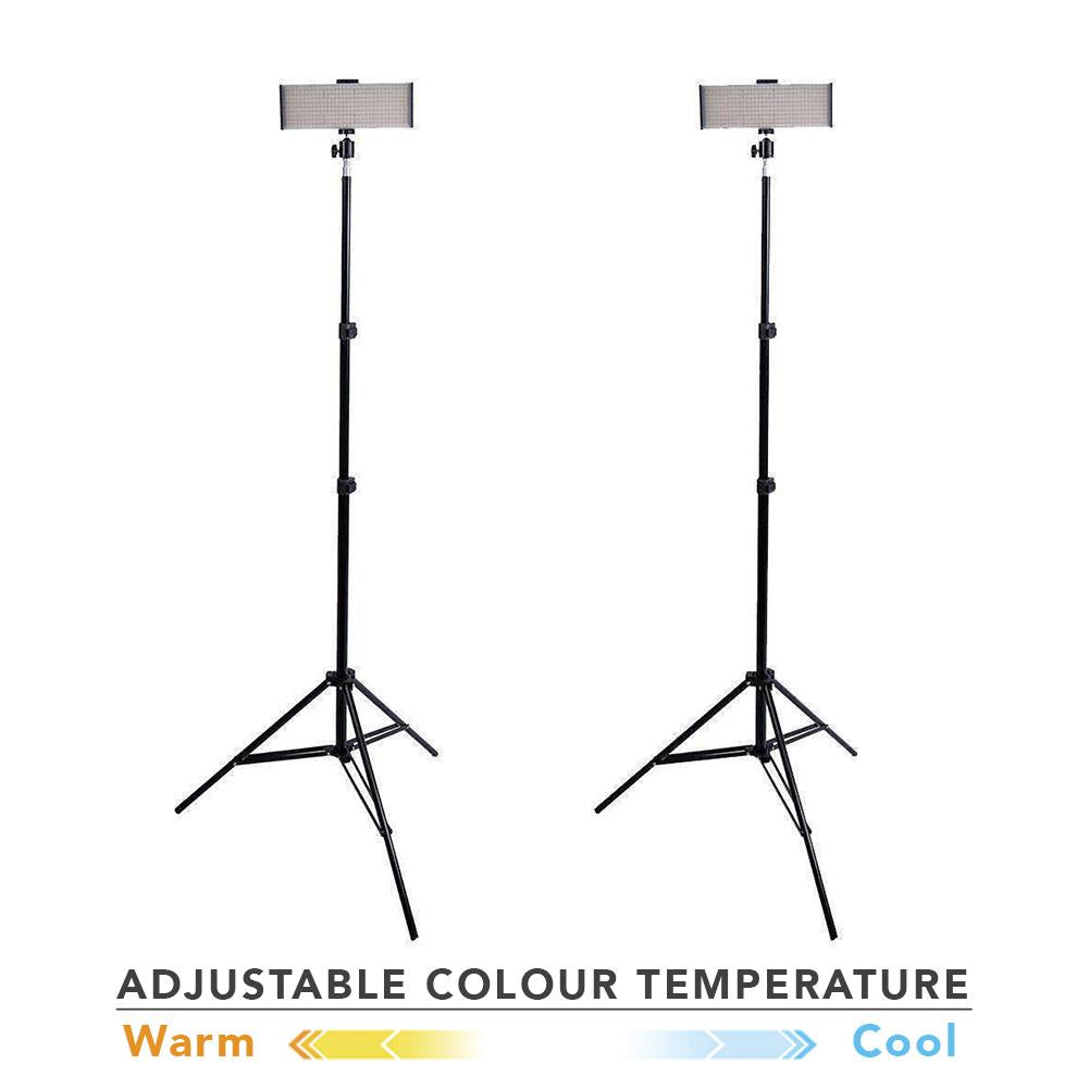 "Spectrum 2x Crystal Luxe 9"" 'DUO' LED YouTube Video Lighting Kit"