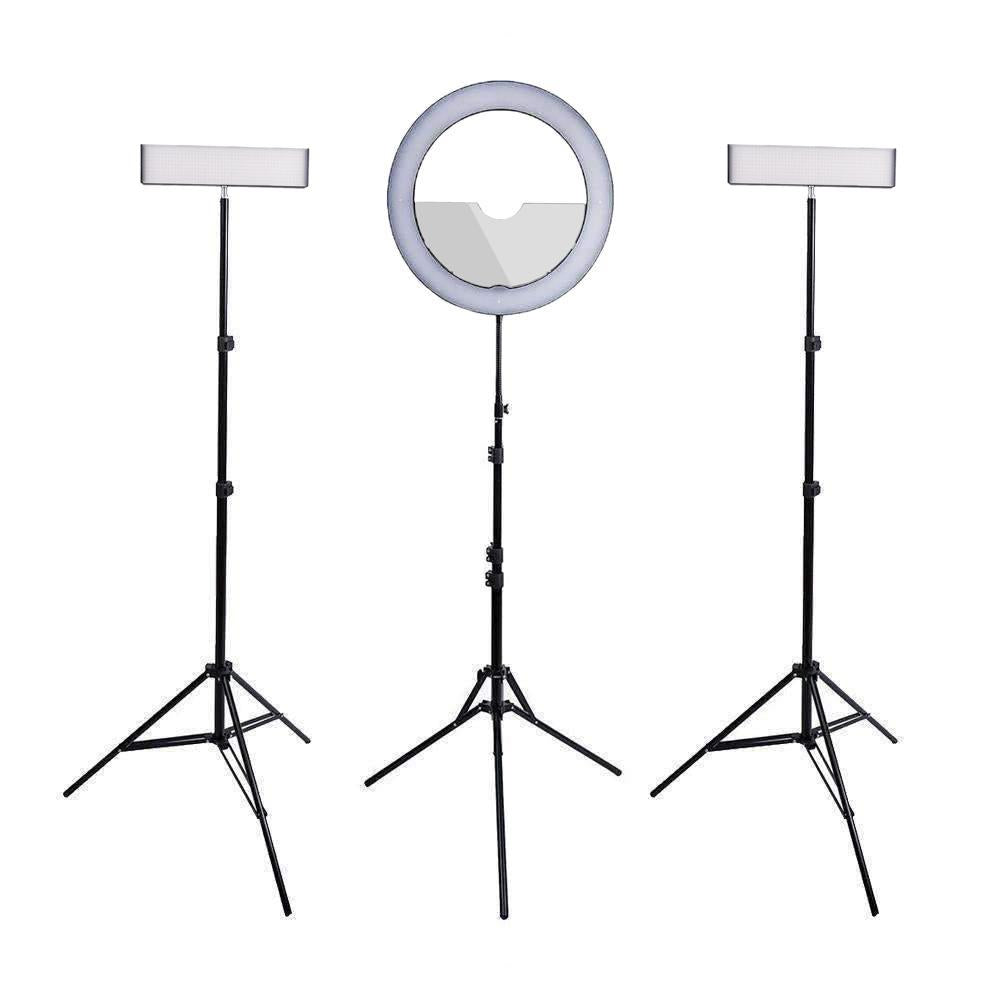 "Spectrum Aurora Gold Luxe II Ring Light & Crystal Luxe 13"" LED Youtube Video Lighting Kit"