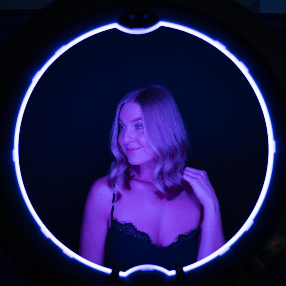 "19"" LED RGB Rainbow Ring Light - 'Unicorn'"