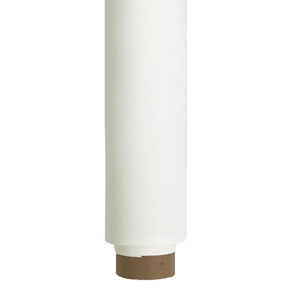 Paper Roll Photography Studio Backdrop Half Length (1.36 x 10M) - Candle Drip White