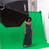Chroma Key Green Screen 3m x 3m Cotton Muslin Studio Backdrop