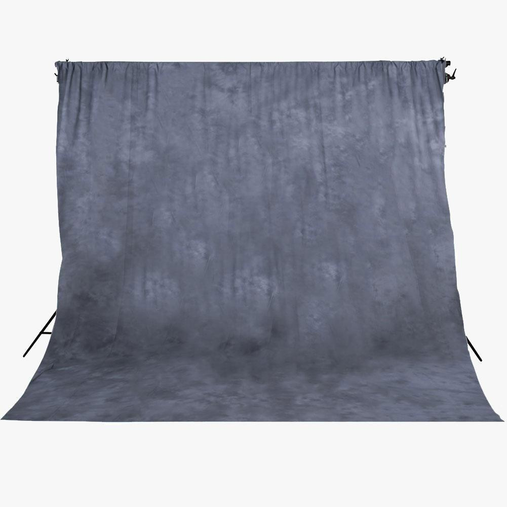 Spectrum Kaleidoscope Series Mottled Cotton Muslin Backdrop 3m x 5m- Smoke & Mirrors Grey