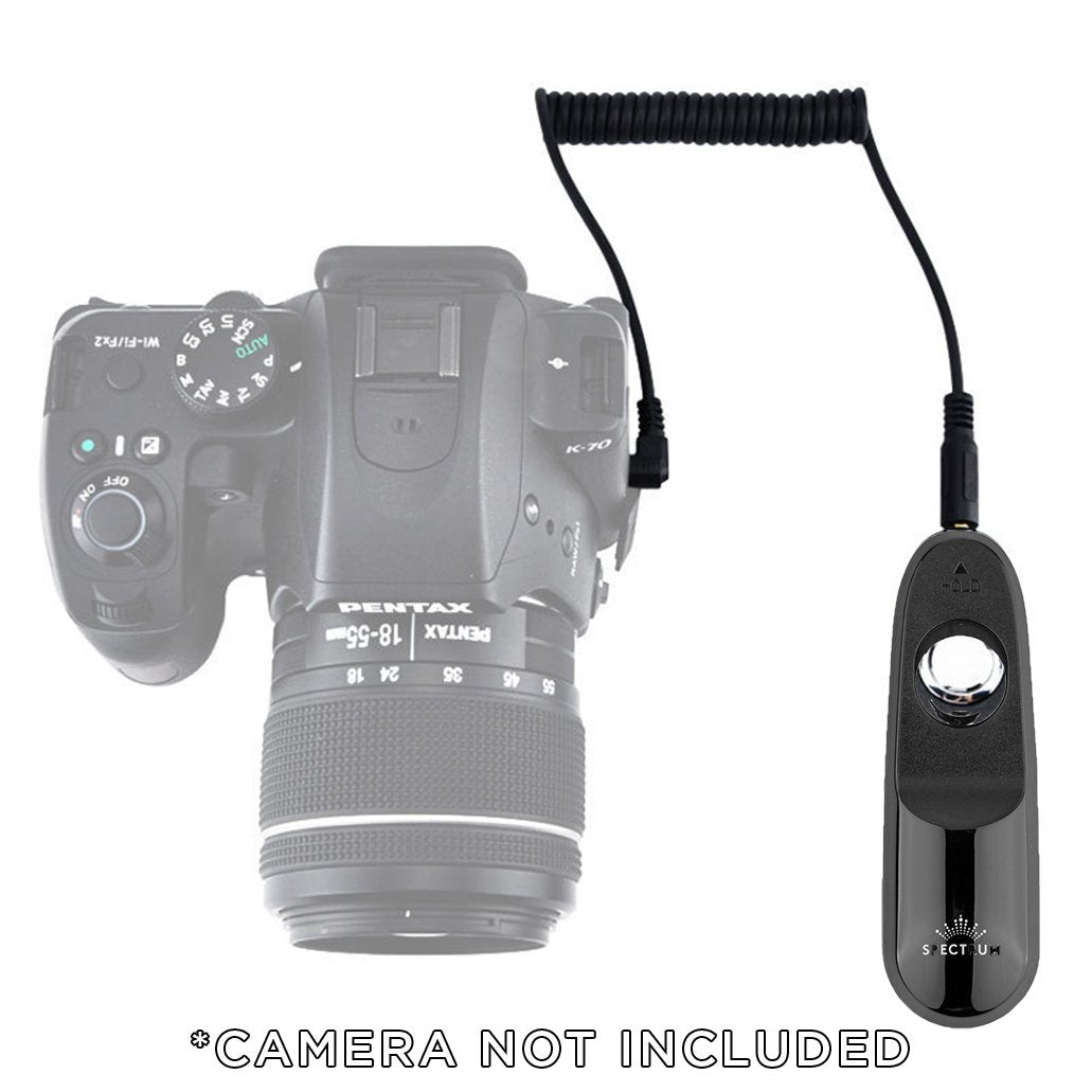 Spectrum Mobile Shutter Remote and Cable for iPhone/iPad/Cameras