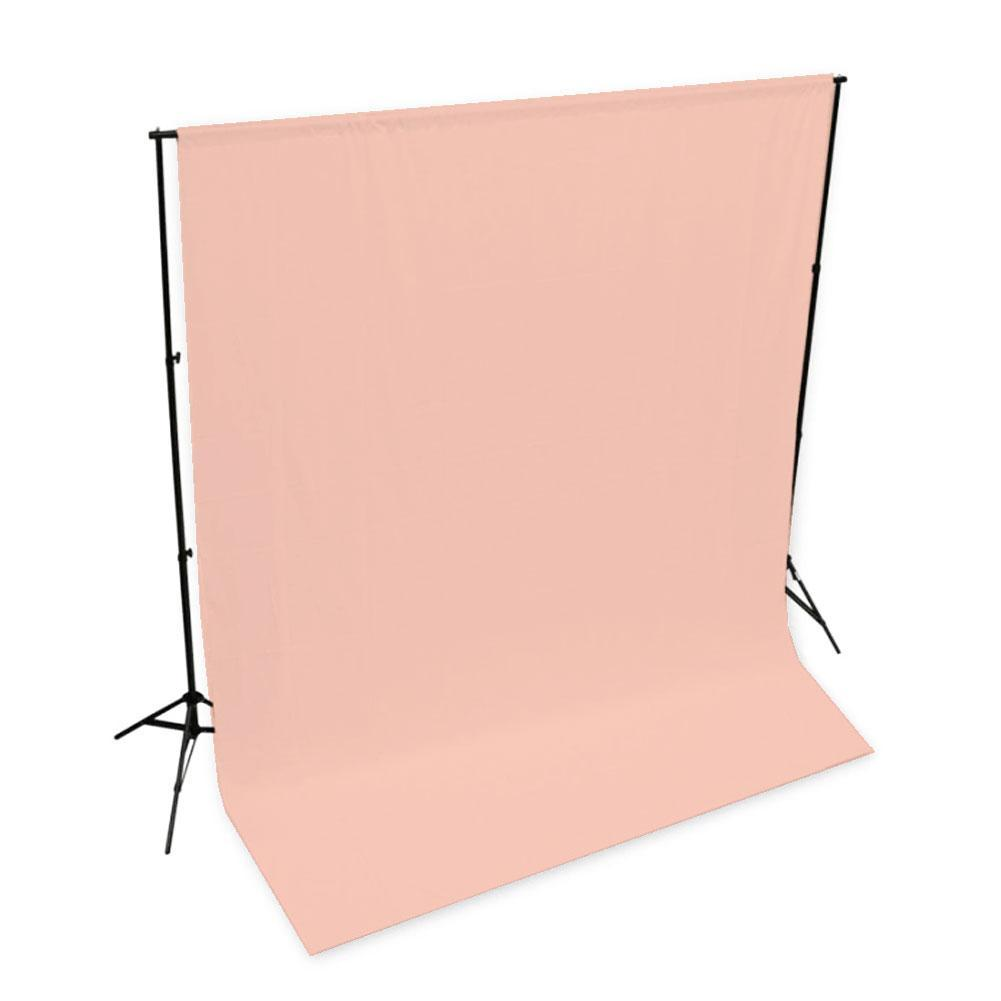 'Pastel Palette' Cotton Muslin Backdrop 3M x 3M - Pink Salmon