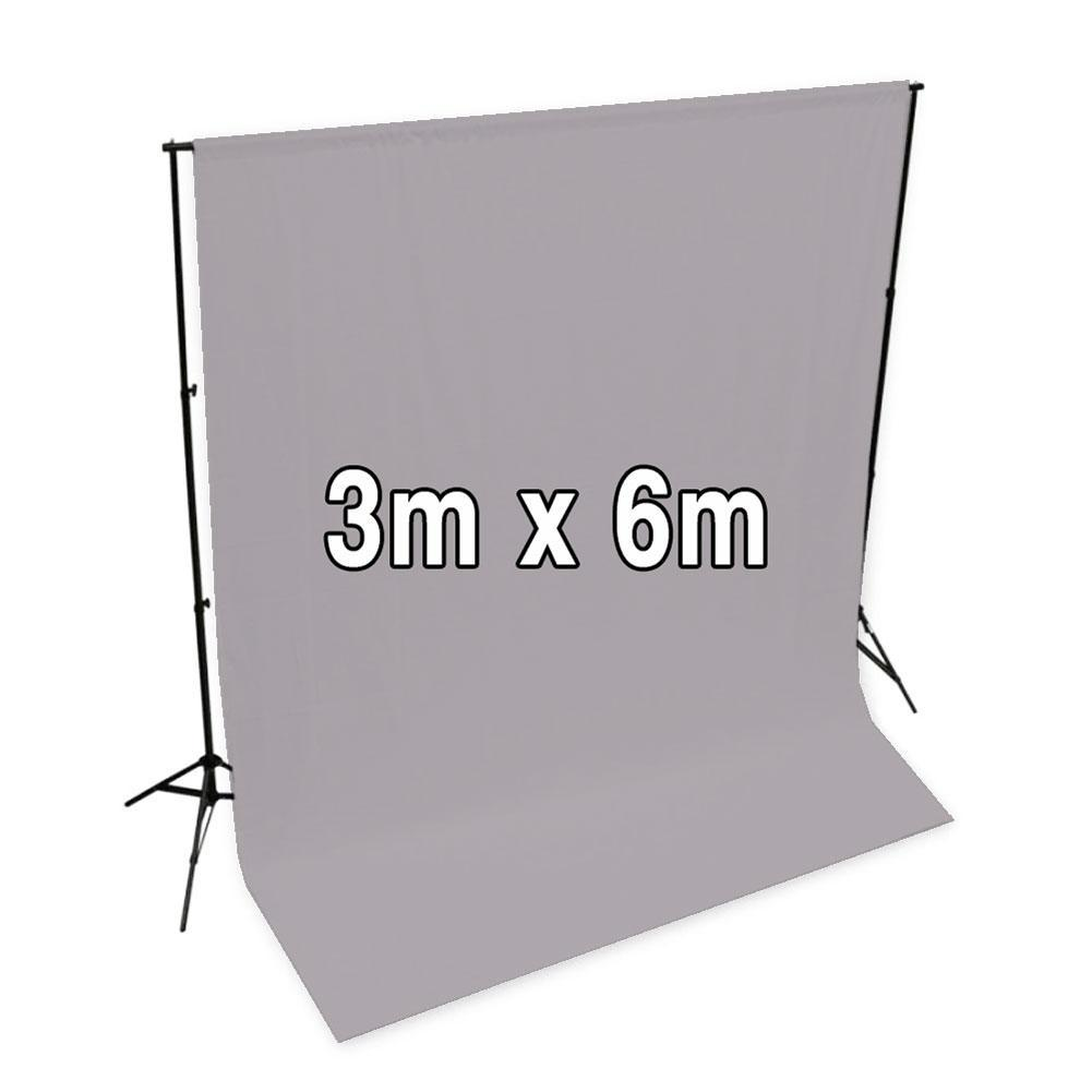 'Pastel Palette' Cotton Muslin Backdrop 3M x 6M - Clean Slate Grey