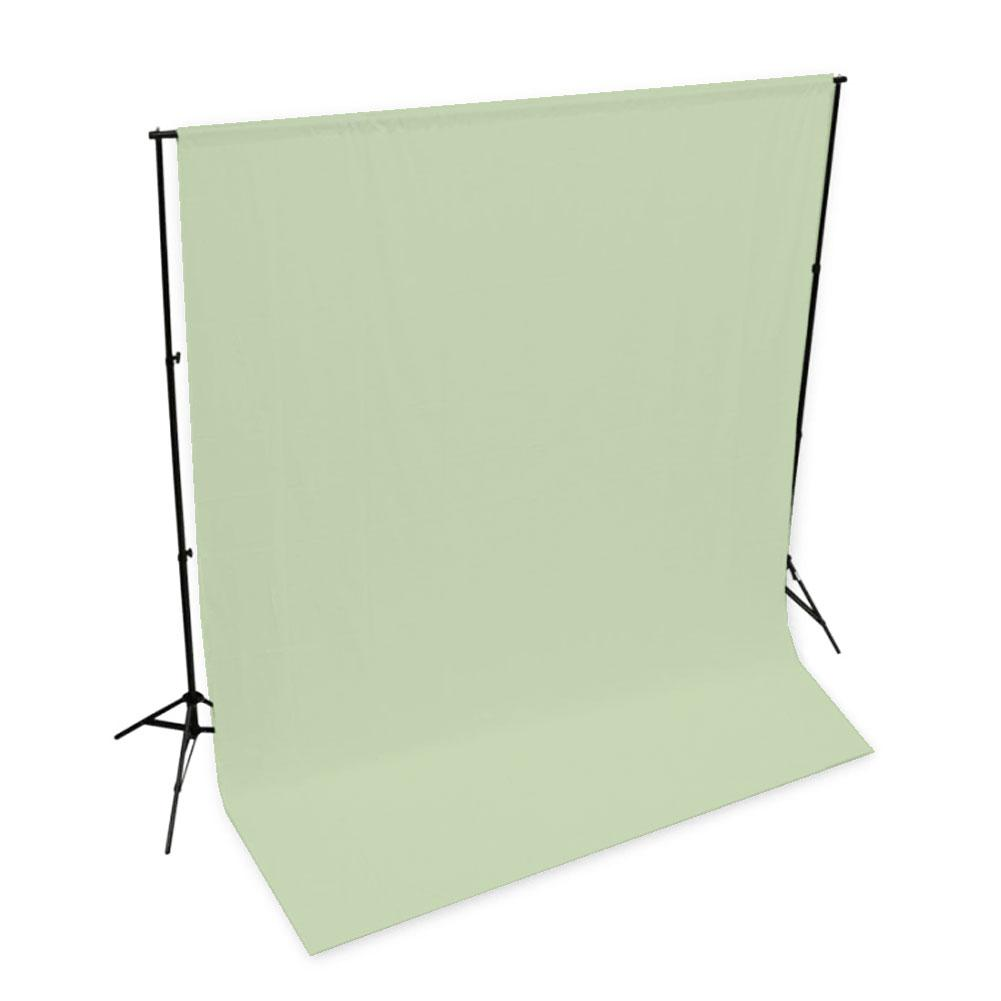 'Pastel Palette' Cotton Muslin Backdrop 3M x 3M - Holy Guacamole Green