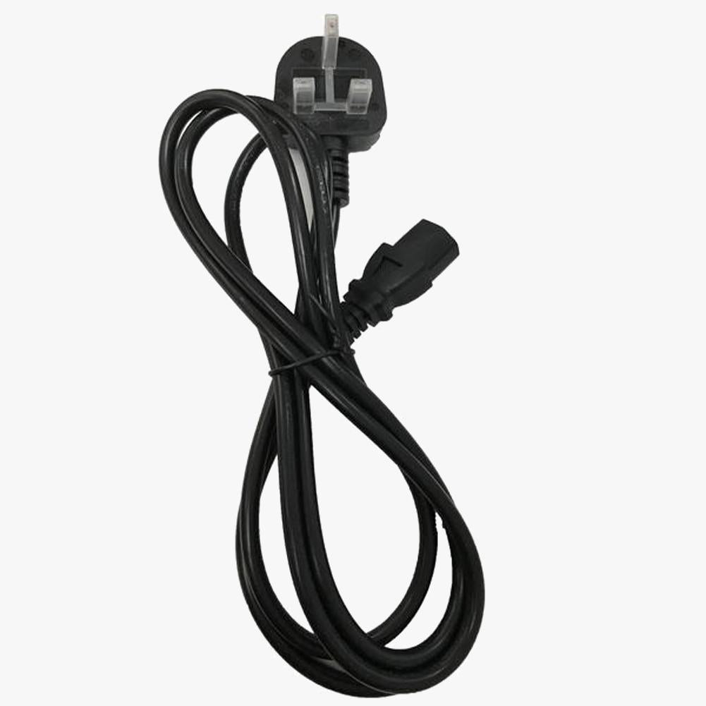 Power Lead Cable Cord Male AC to Female IEC - 2m UK Kettle Plug
