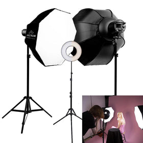 Spectrum-PRO 'Fashion and Beauty' Lookbook 3 Point Eclipse Ring Lighting Kit