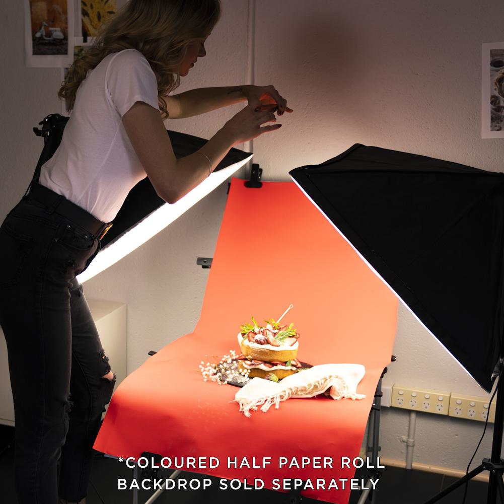 "23"" Food & Product Photography Lighting 'WORK HUSTLE' Table Kit"