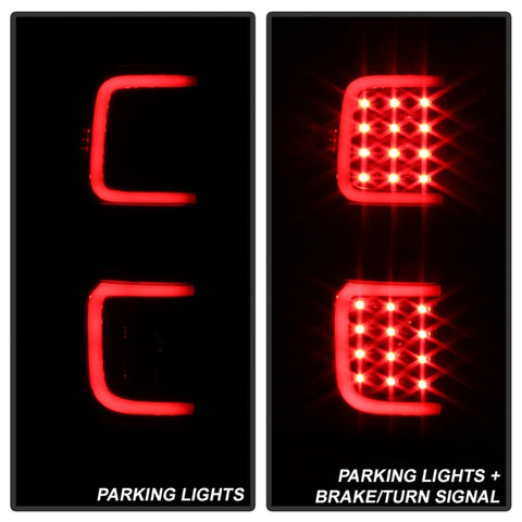 xTune Ford F150 09-14 LED Tail Lights - Black ALT-ON-FF15009-LBLED-BK - 5082169