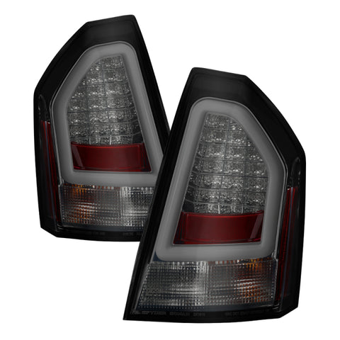 Spyder Chrysler 300C 05-07 V2 Light Bar LED Tail Lights - Smoke ALT-YD-C305V2-LED-SM - 5083371