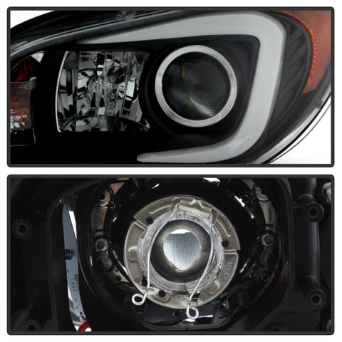 Spyder Subaru WRX 06-07 Projector Headlights - HID Model Only - Black PRO-YD-SWRX06-HID-LBDRL-BK - 5083913