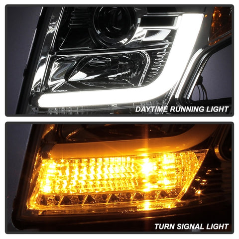 Spyder Chevy Tahoe / Suburban 2015 -2016 Projector Headlights - DRL LED - Chrome PRO-YD-CTA15-DRL-C - 5082534