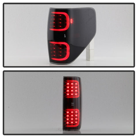 xTune Ford F150 09-14 LED Tail Lights - Black ALT-ON-FF15009-LBLED-BSM - 9038495