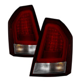Spyder Chrysler 300C 08-10 V2 Light Bar LED Tail Lights - Red Clear ALT-YD-C308V2-LED-RC - 5083395
