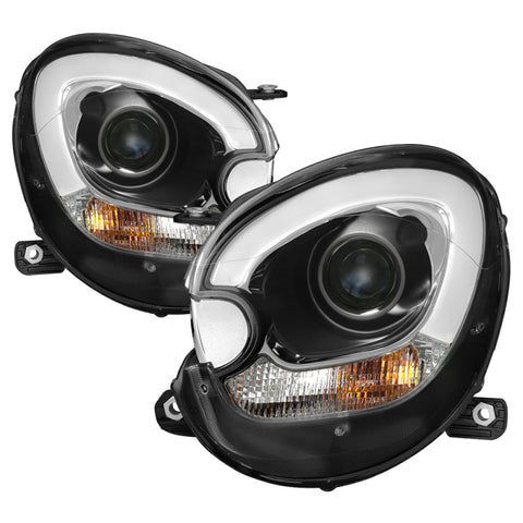 Spyder Mini Cooper Countryman 11-15 Headlights - Halogen Model Only - Black PRO-YD-MCO11-DRL-BK - 5083449