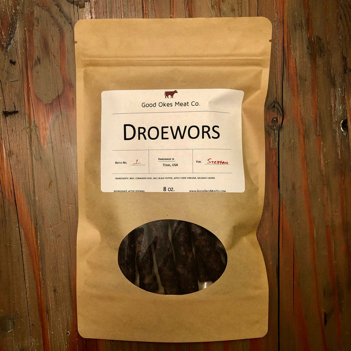 Traditional Droewors - 8 oz.