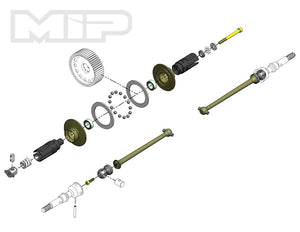 MOD / MIP Bi-Metal Lightweight Pin Drive Drive Kit, 67mm, AE B6/6.1 #17090