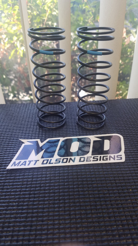 8.0 lb Soft Front V3 - Blue, MOD Big Bore Shock Springs, Losi 5T / 5B #18522