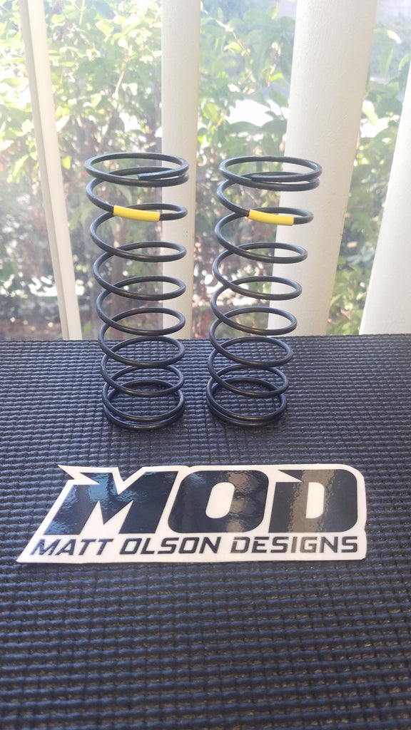 9.0 lb Medium Front V3 - Yellow , MOD Big Bore Shock Springs, Losi 5T / 5B #18523