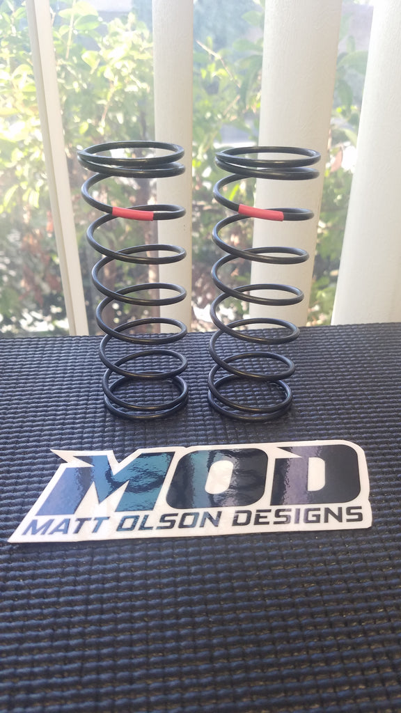 10.0 lb Hard Front V3 - Red , MOD Big Bore Shock Springs, Losi 5T / 5B #18524