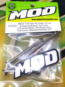 MOD TLR 22x-4 Bi-Metal Aluminum Center Drives F/R 68/93mm & 61/100mm #20501