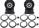 Wheel & Beadlock sets 1.0 Losi Rims Black / Yellow / White Pair or Set