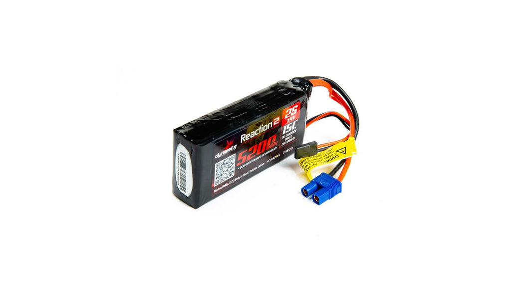 7.4V 5200mAh 2S 15C Reaction 2.0 LiPo Battery 5ive T / B Dynamite (DYNB52213)