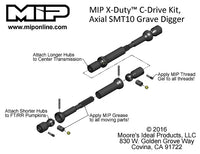 Center Drive Kit, Axial SMT10, MIP X-Duty   #16200