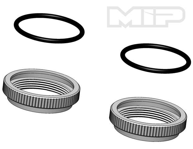 #14374 - V2 Spring Adjustment Nut (2), 32mm Big Bore, Losi 5ive-T