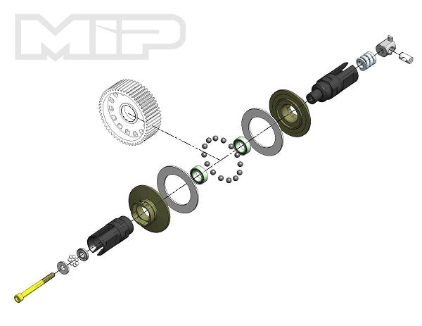 MIP Bi-Metal Super Diff Kit, TLR 22 Series, #17080