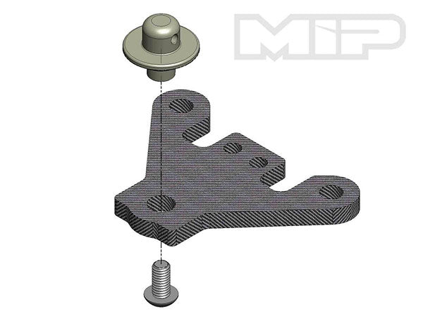 #18014 - Steering Brace/ Body Mount, MIP 13.5 Pro4mance Chassis, Tekno EB410