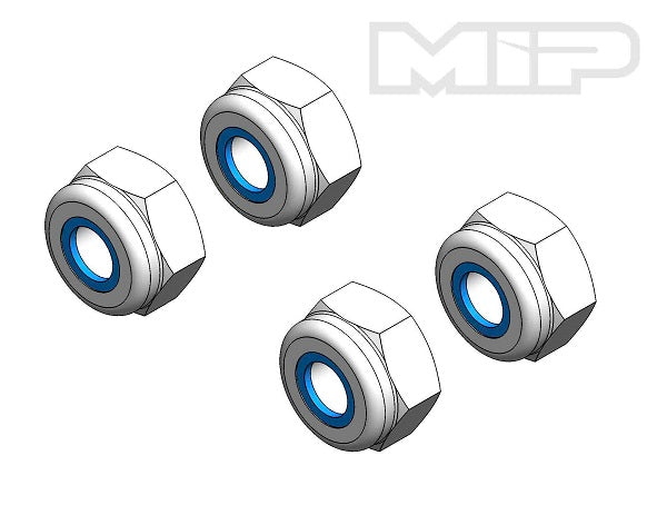 M3 x .5mm Aluminum Locknut (4), #99111