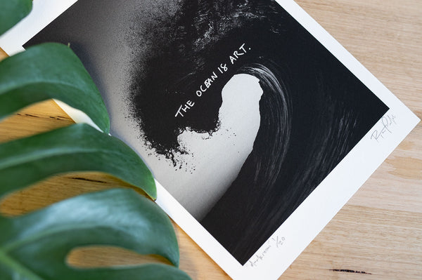 "darkroom: ""the ocean is art"" (print)"