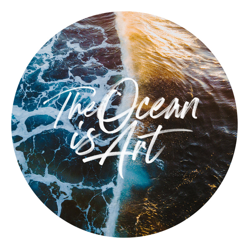 """The Ocean is Art"" 001 — Wall Decal"