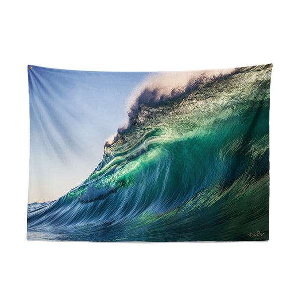 GREEN GLOW — Wall Tapestry