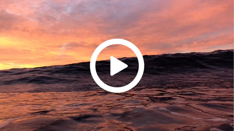 Sunrise Swim at the beach (video)
