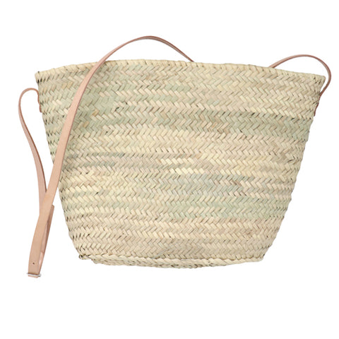 straw bag - crossbody leather