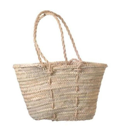 straw bag - long rope handles