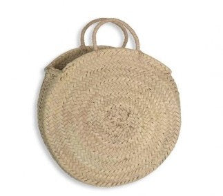 round straw bag - short handles (small)