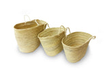 all sizes straw baskets