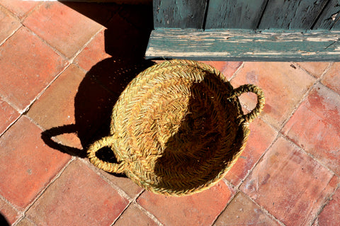 storage basket - straw/esparto grass (small)