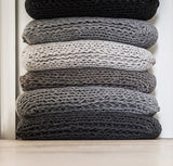 wool knitted pillow