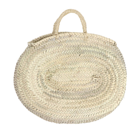 oval straw bag - short handles