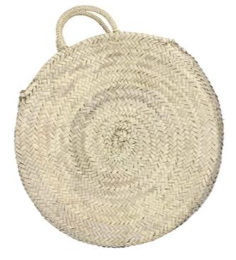 round straw bag - short handles (medium)