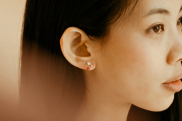 IXORA FLOWER EAR STUDS