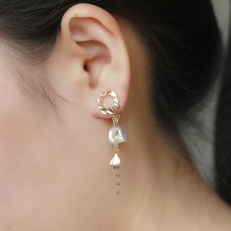 RING OF SAKURA CLIP-ON EARRINGS