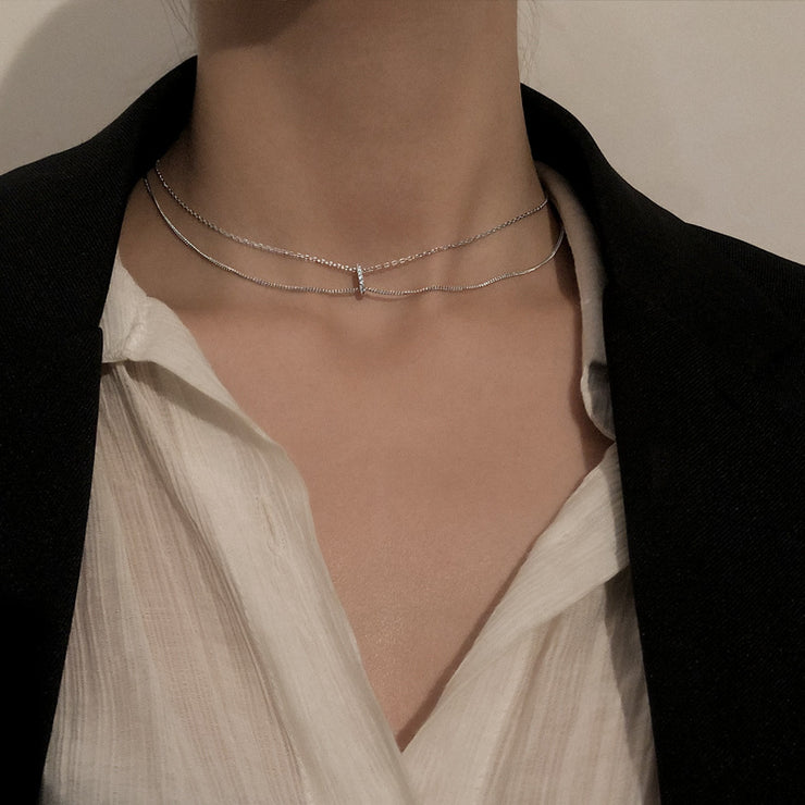 RING OF LIGHT LAYERED NECKLACE