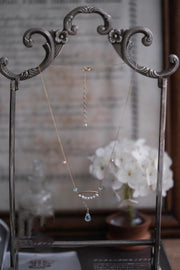 PEARLY BLUE TOPAZ NECKLACE